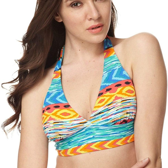 b9ce0fae804 Anne Cole Swim | Suit Halter Printed Bikini Top | Poshmark